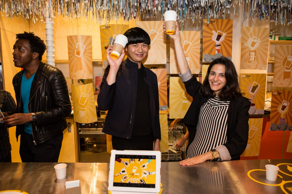 CupCLub launch during LDF 15  Image copyright Sophie Mutevelian